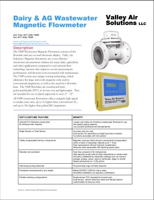 VDP Wastewater Flowmeter Datasheet